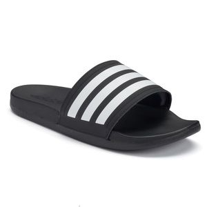 {adidas} slide sandals, 9